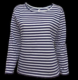 a7a965a22 Dámske námornícke tričko s vlastnou výšivkou alebo potlačou -dlhý ...