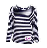 5276fb4867b Dámske námornícke tričko s vlastnou výšivkou alebo potlačou -dlhý rukáv